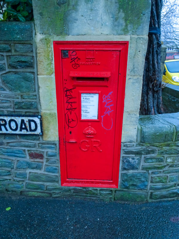 King George V post box, Redland, December 2020