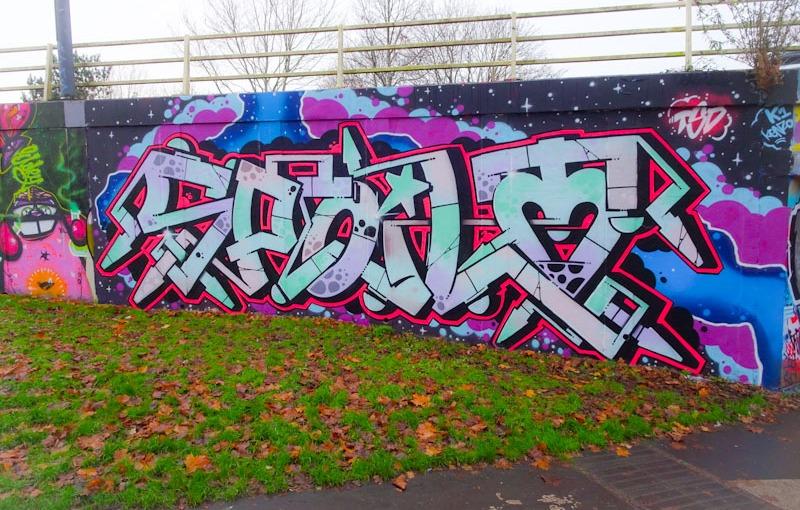 Dott Rotten, M32 roundabout, Bristol, December 2020