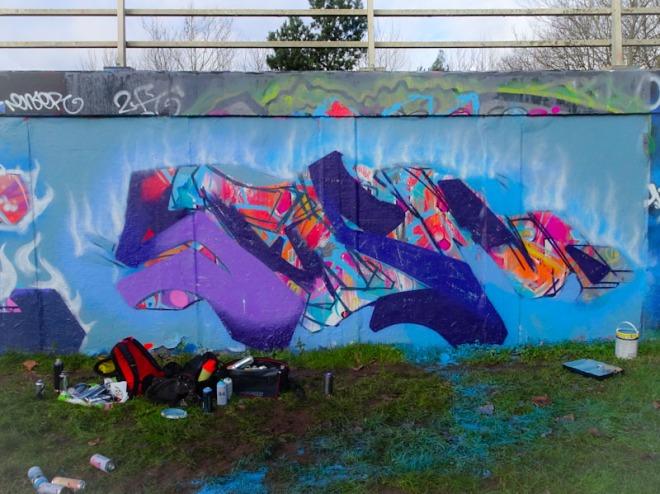 Serm, M32 roundabout, Bristol, January 2021