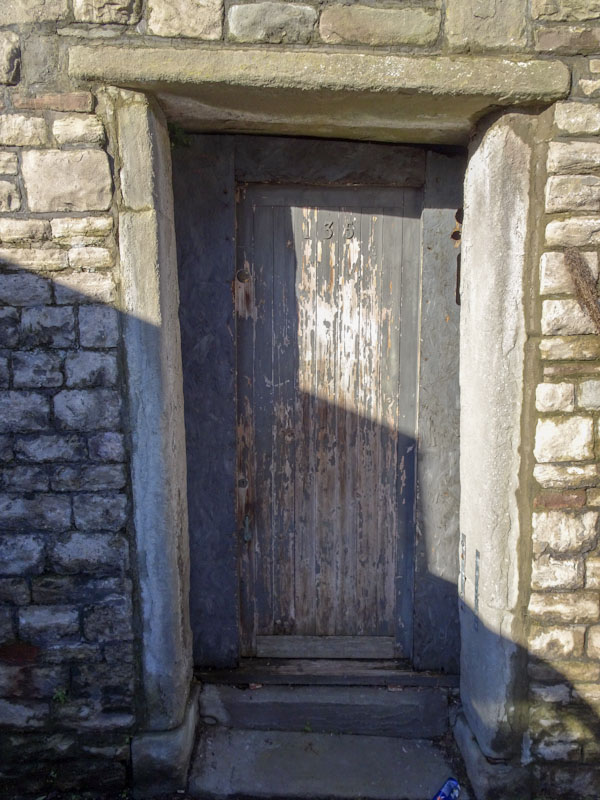 Tatty door, nice frame, Montpelier, Bristol, January 2021