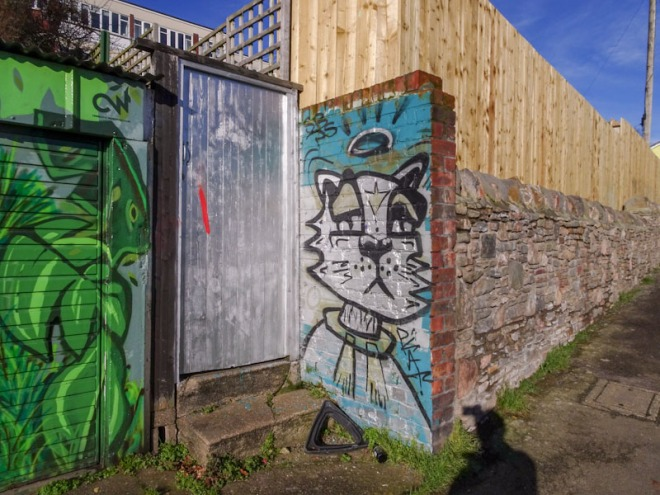 Tatty door, nice frame, Montpelier, Bristol, January 2021