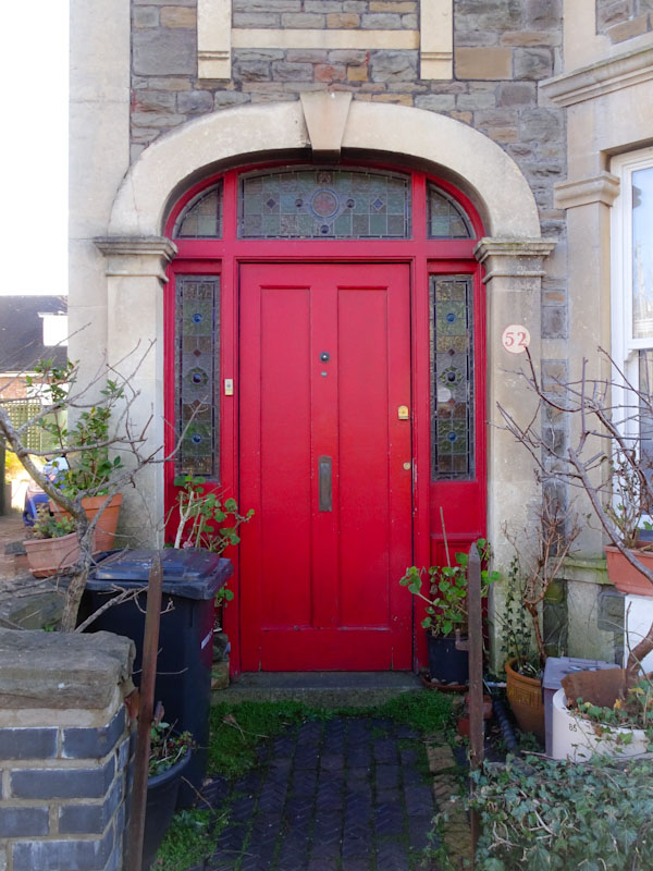 A rather fetching door and surround, Bristol, January 2021