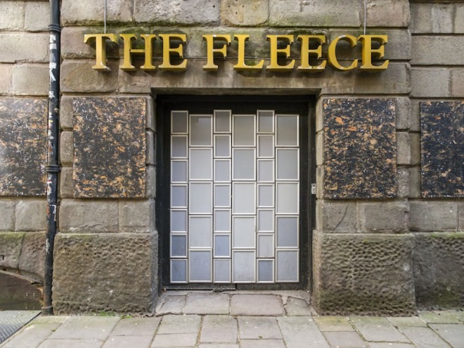 The Fleece door, Bristol, March 2021