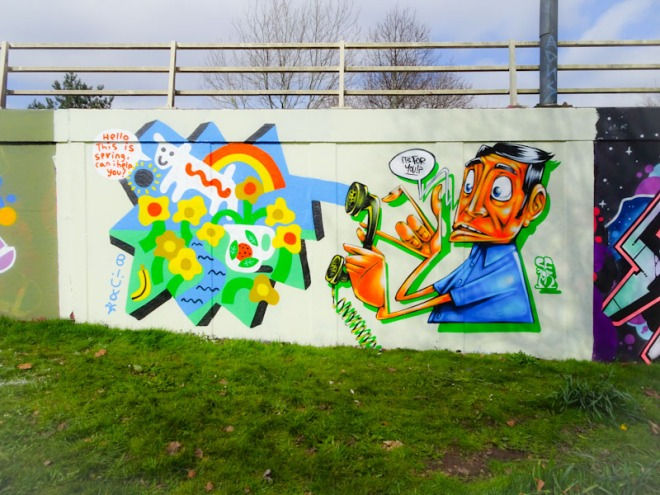 Billy and Sepr, M32 roundabout, Bristol, March 2021