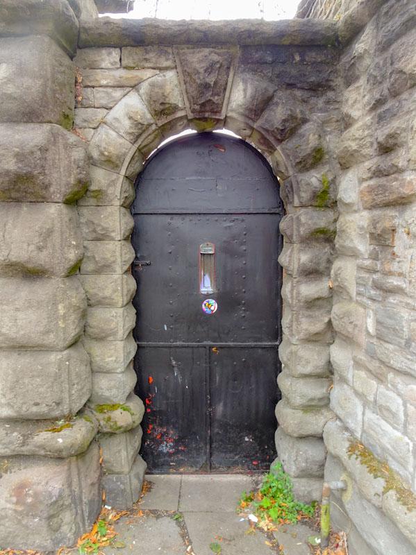 Heavy iron door, Bedminster, Bristol July 2018
