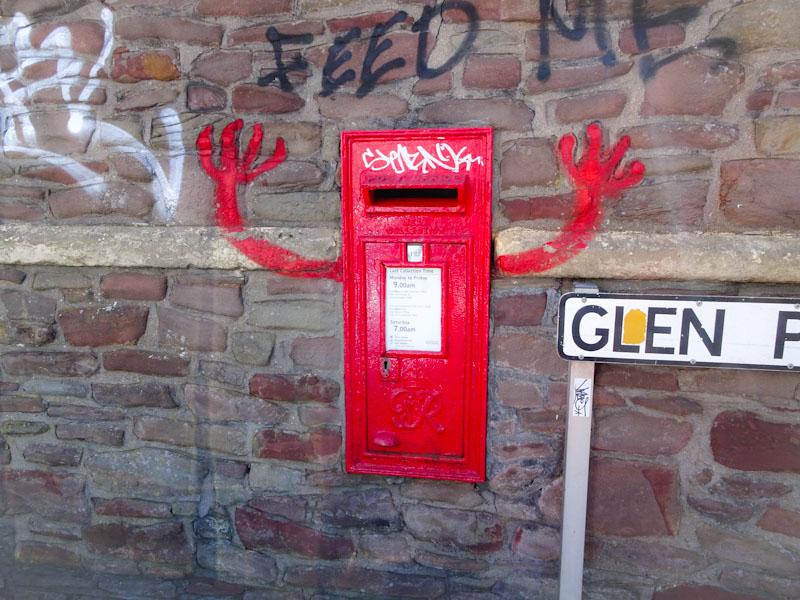Animated post box door, Bristol, May 2018