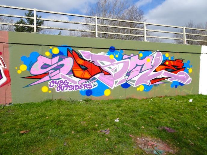 Subtle, M32 roundabout, Bristol, March 2021