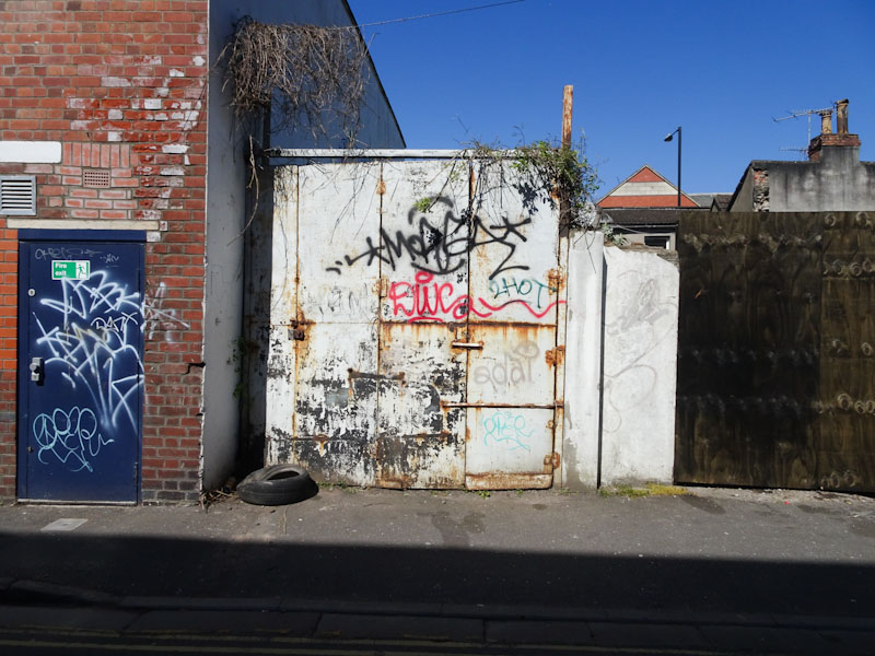 Two shabby doors for the price of one, Bedminster, Bristol, April 2021