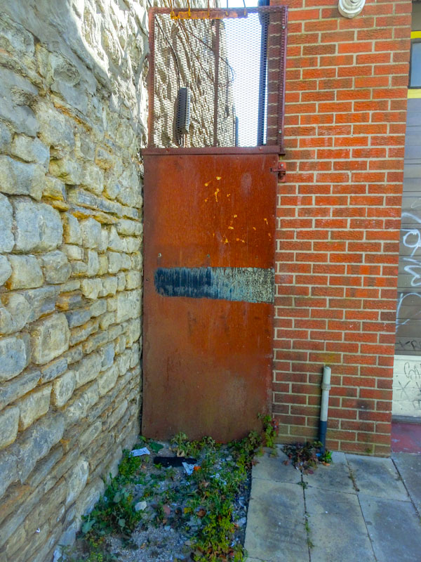 Old iron door, Bedminster, Bristol, April 2021