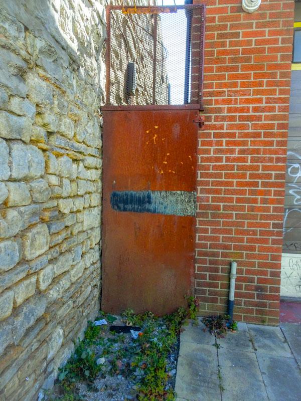 Old iron door, Bedminster, Bristol, April 2021