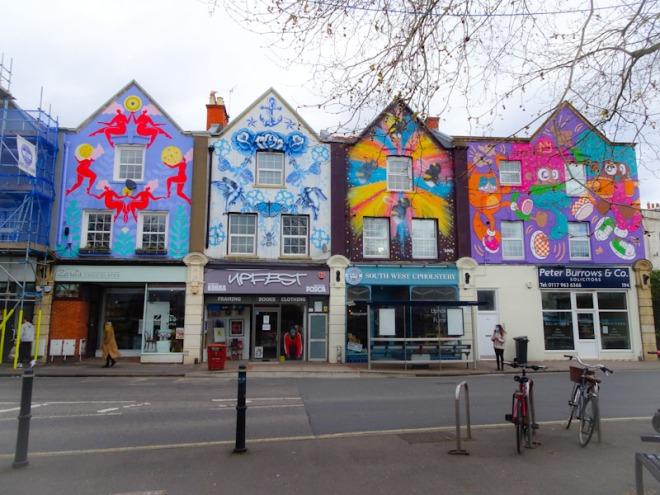 Zoe Power, Gemma Compton, Sophie Long and Ejits, North Street, Bristol, April 2021