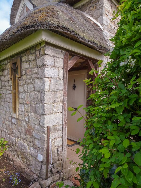 Door at number 1, Blaise Hamlet, Bristol, May 2021
