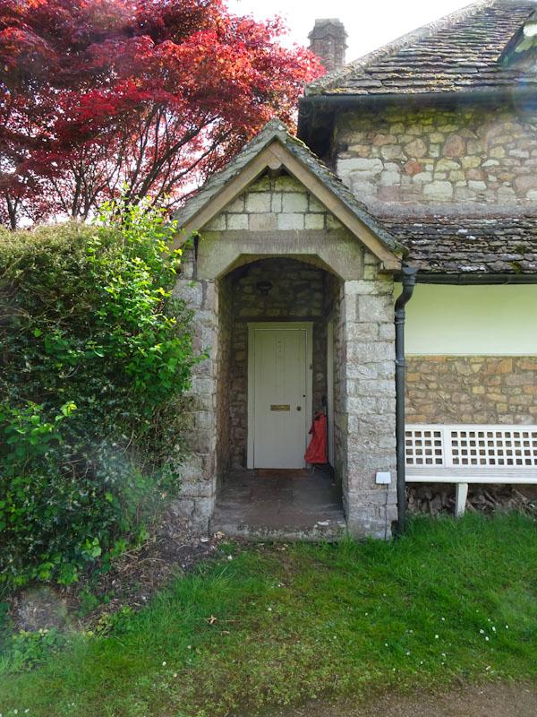 Door at number 2, Blaise Hamlet, Bristol, May 2021