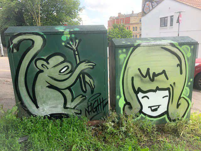 Nightwayss and Face 1st, Nine Trees Hill, Bristol, May 2021