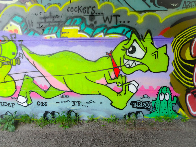 T-Rex, Brunel Way, Bristol, June 2021