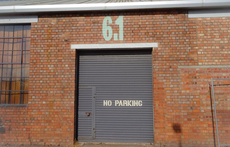 Warehouse door, the Paintworks, Bristol, May 2021