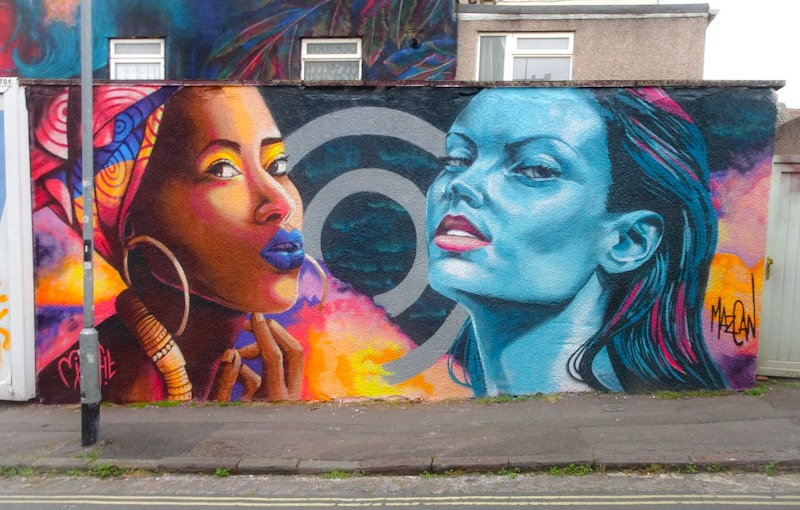 Mishfit and Mazcan, King William Street, Bristol, June 2021, Upfest 21