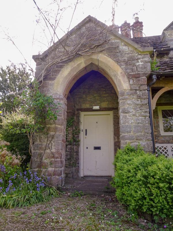 Door at No 4 Blaise Hamlet, Bristol, May 2021