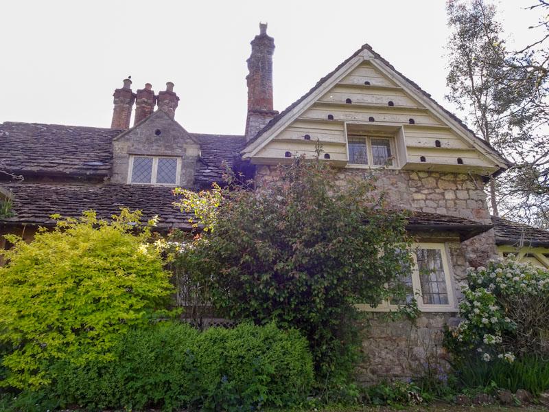 Dove doors at No 4 Blaise Hamlet, Bristol, May 2021