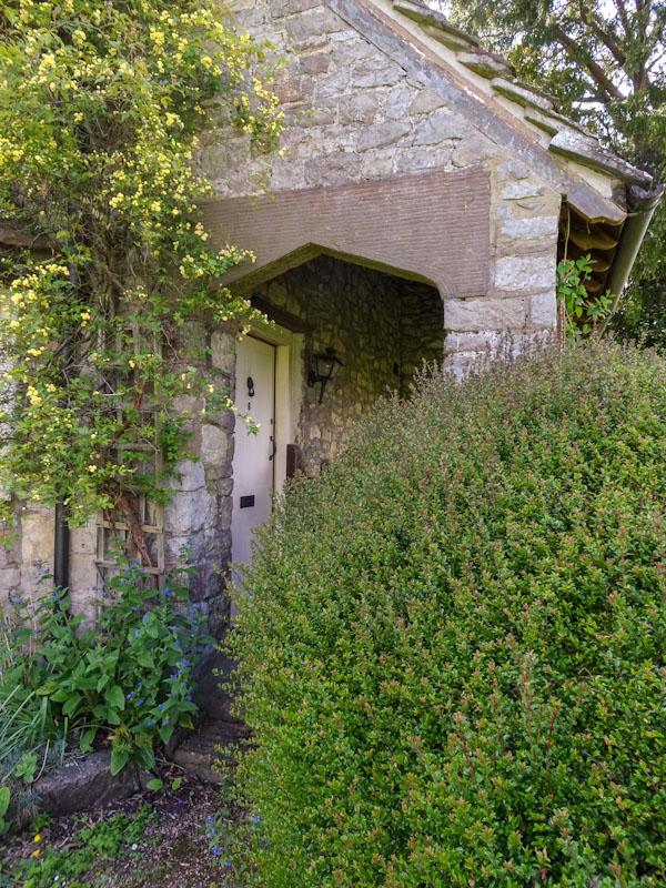 Door at No 5 Blaise Hamlet, Bristol, May 2021