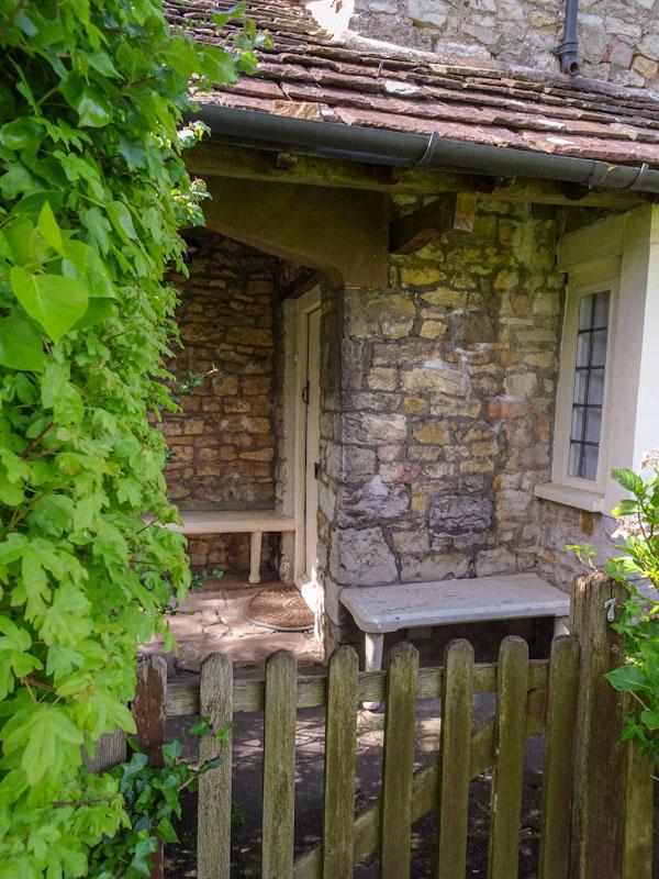Door at No 6 Blaise Hamlet, Bristol, May 2021