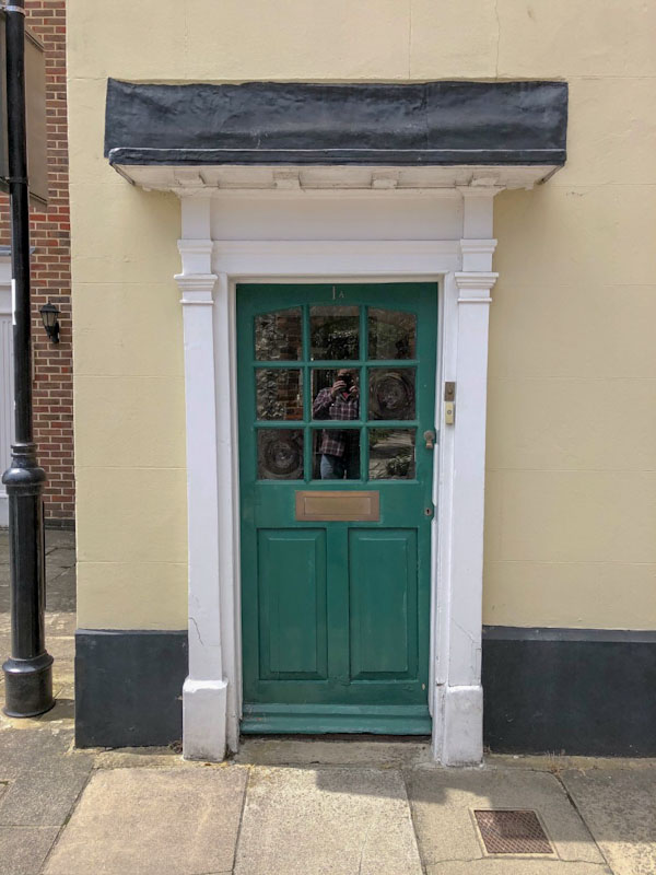 Green doorfie, Chichester, May 2021