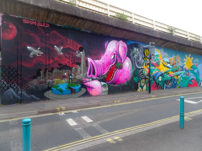 3Dom and Sled One, M32 Spot, Bristol, May 2021