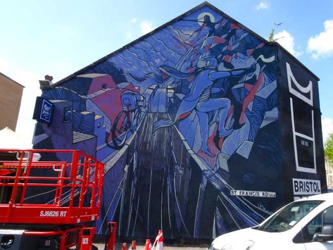 Will Barras, St Francis Road, Bristol, May 2021, Upfest 21