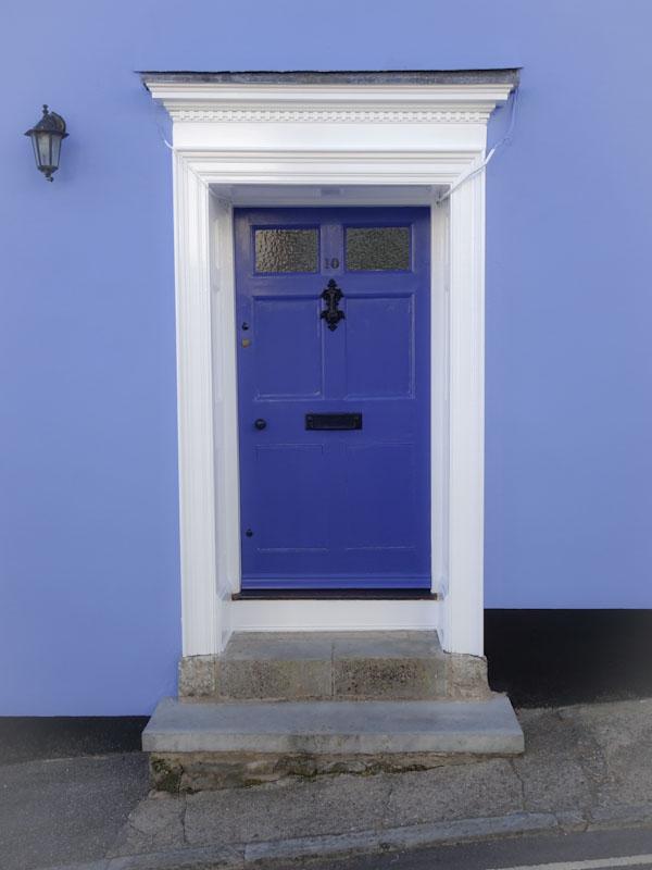Blue door, Lyme Regis, July 2021