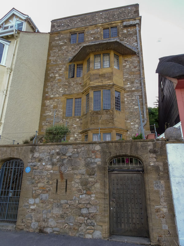 Seafront house and door, Lyme Regis, July 2021