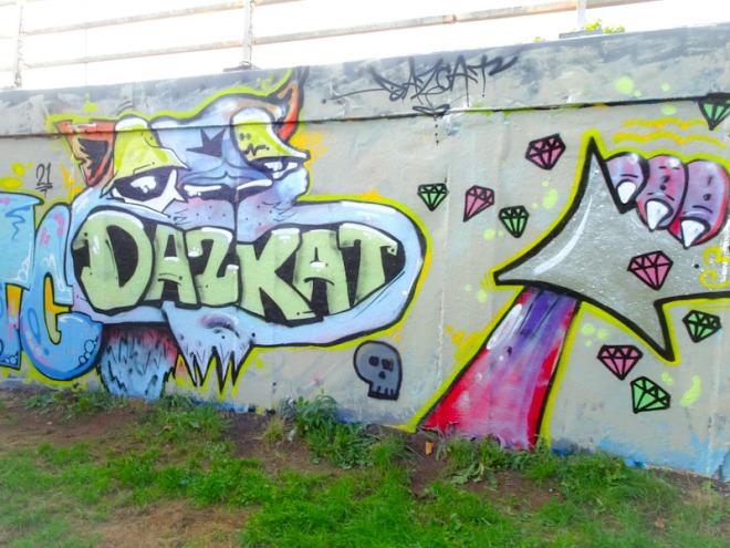 Daz Cat, M32 roundabout, Bristol, August 2021