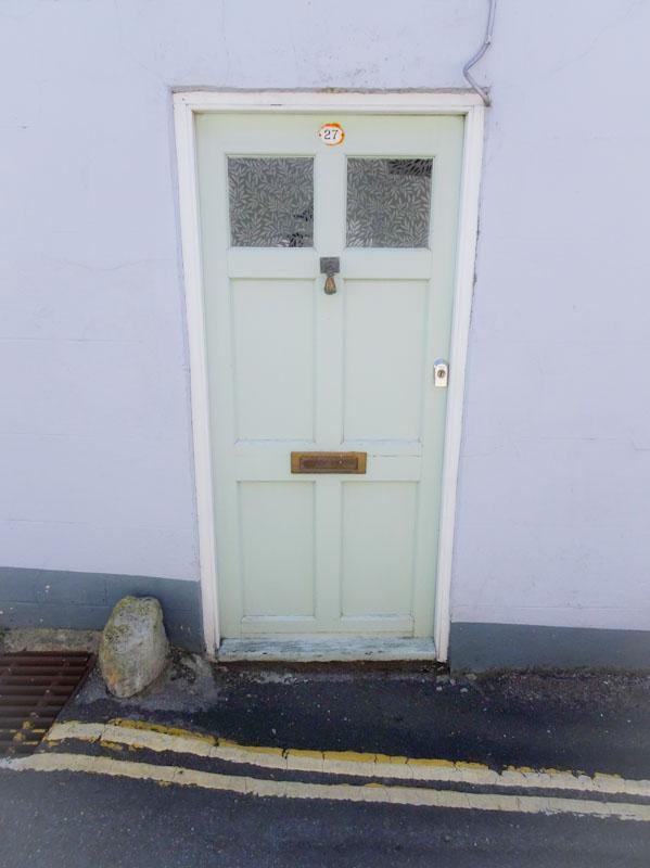 Pale door, Lyme Regis, Dorset, July 2021