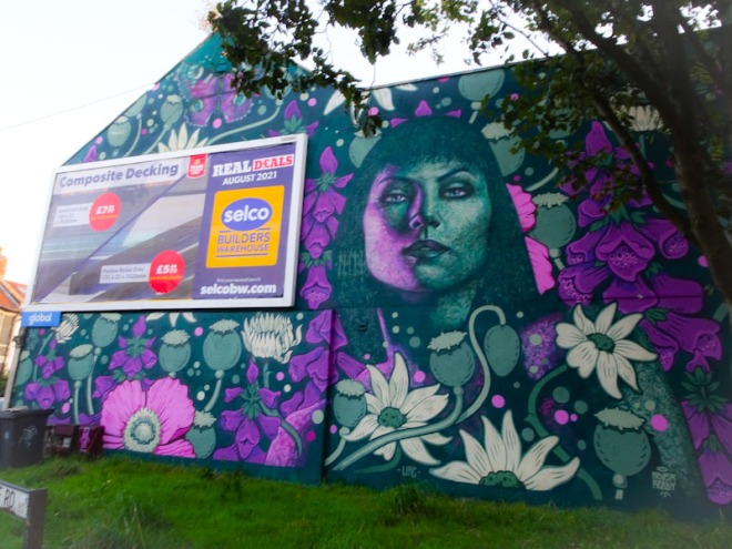Philth and N4T4, Clift House Road, Bristol, August 2021, Upfest 21