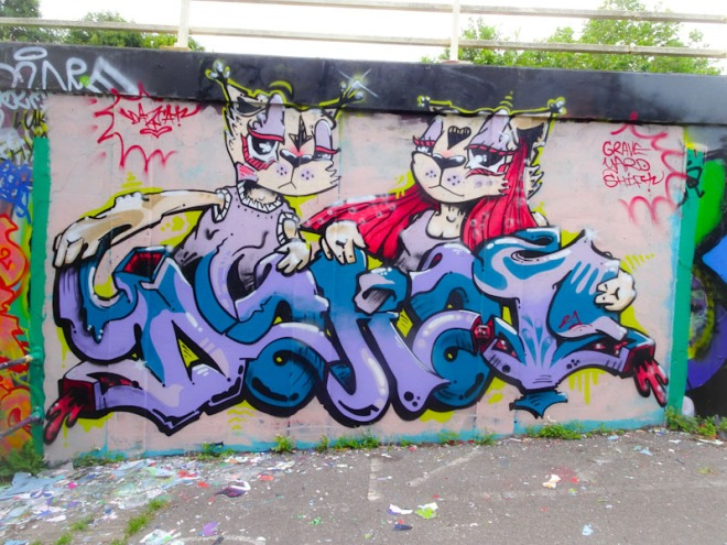 Daz Cat, M32 roundabout, Bristol, July 2021