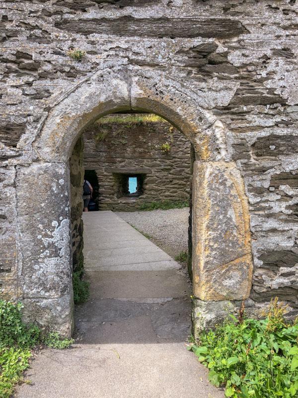 Polruan Block House door, Polruan, Cornwall, August 2021