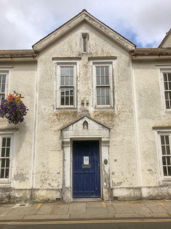 Blue door, Truro, Cornwall, August 2021