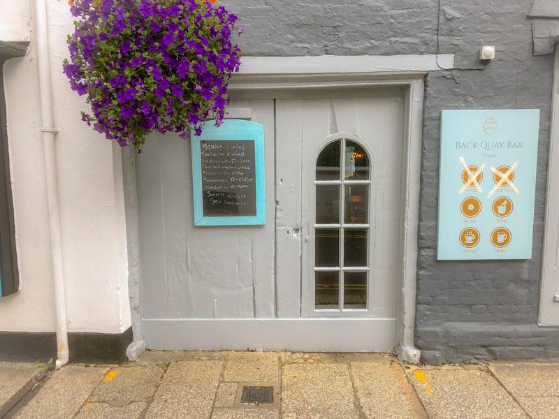 No food here, former door, Truro, Cornwall, August 2021