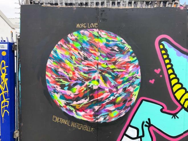 Emotional Waterfall Art, Alfred Street, Bristol, September 2021