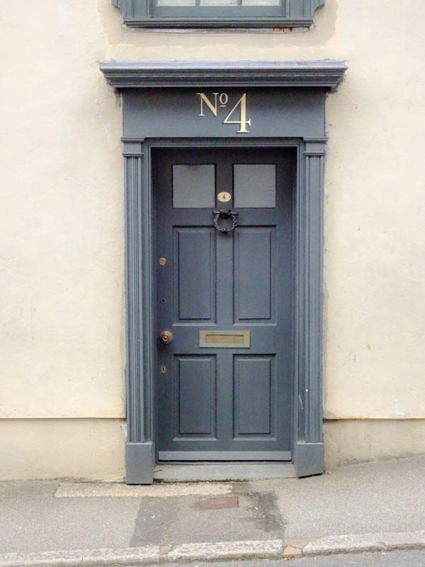 In case you were wondering this is the door to number 4, Liskeard, Cornwall, August 2021