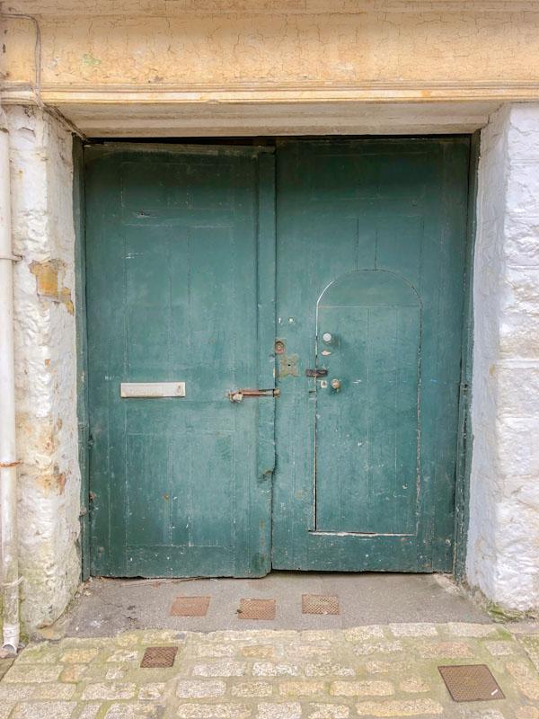 Perfect door within a door door, Truro, Cornwall, August 2021
