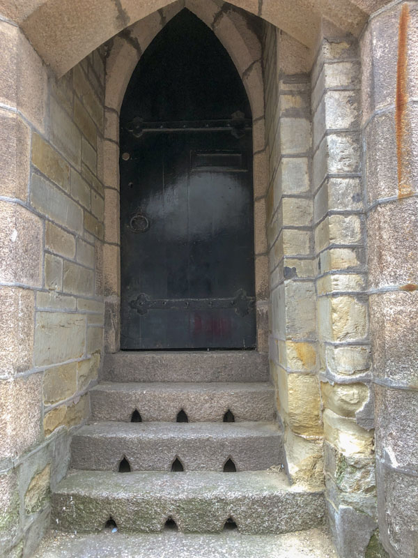 Arched door and steps, Truro, Cornwall, August 2021