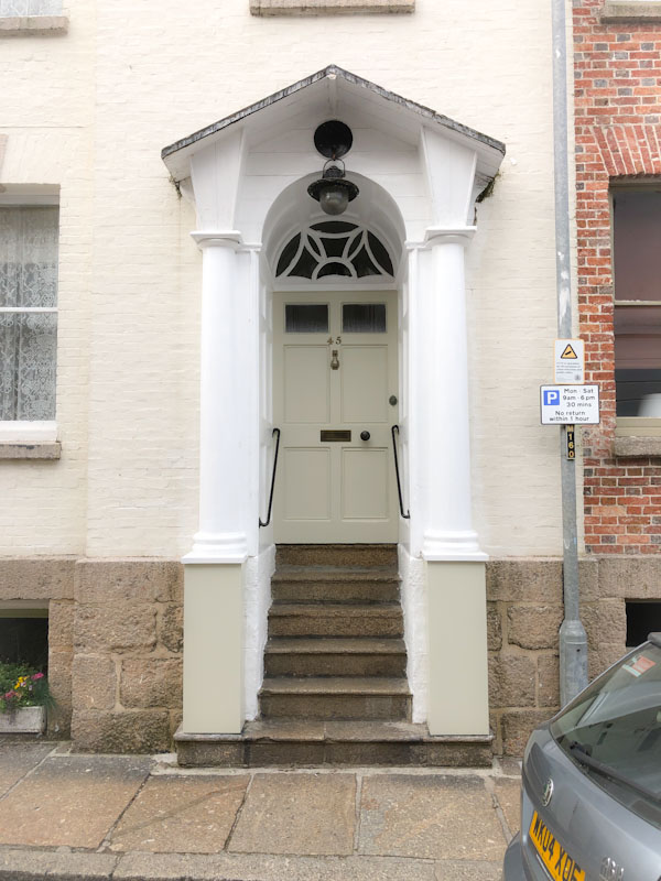 Steps to a high door, Penzance, Cornwall, August 2021