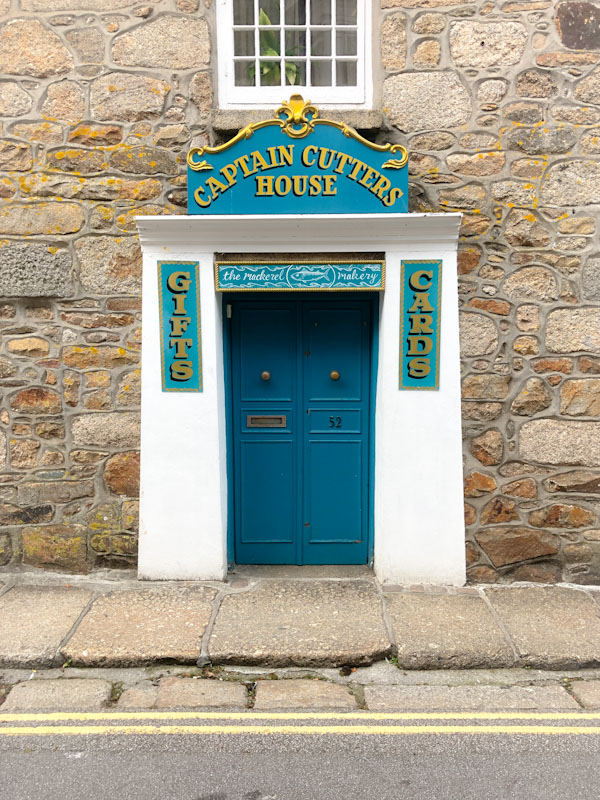 Captain Cutters House door, Penzance, Cornwall, August 2021