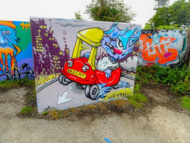 Daz Cat, Purdown Battery, Bristol, September 2021