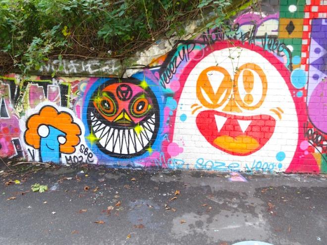 Vee and Stinkfish, St Werburghs, Bristol, October 2021